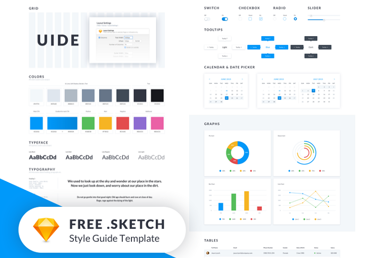 UIDE Style Guide Template Freebie