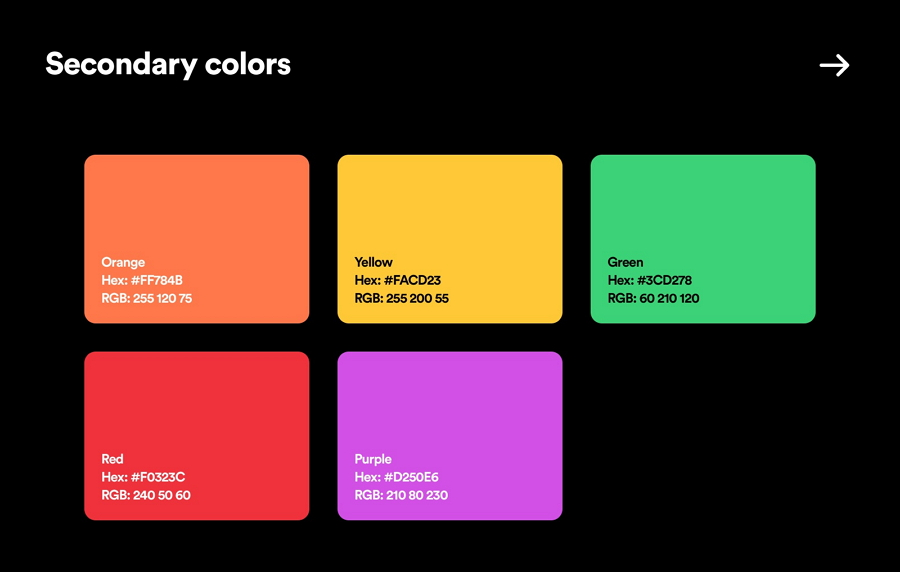 Style Guide Color Palettes
