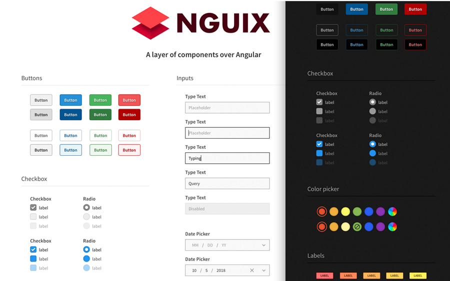 NGUIX UI Style Guide Example