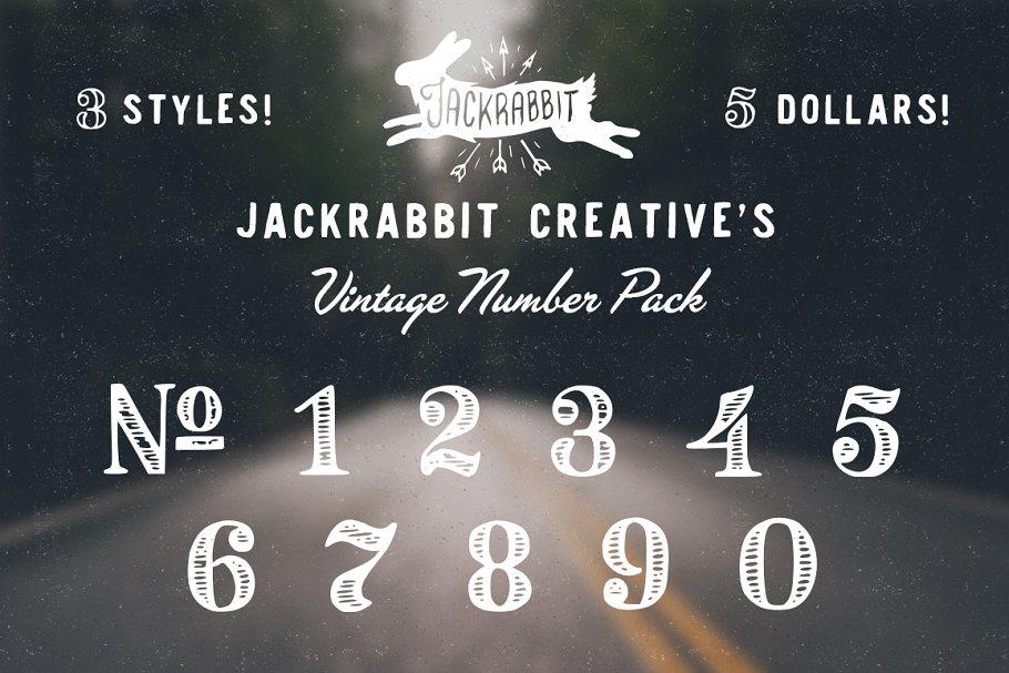 Vintage Number font