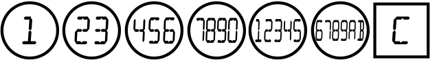 Numbers with Rings Digital font