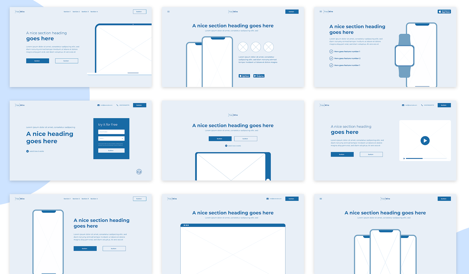 A Rough Wireframe Example