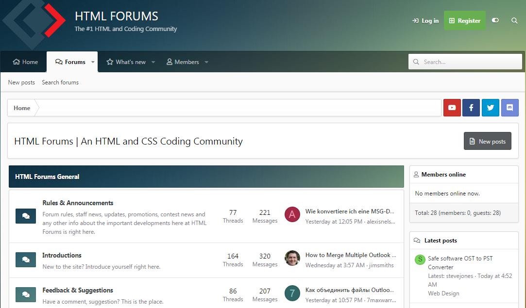 HTML Forum