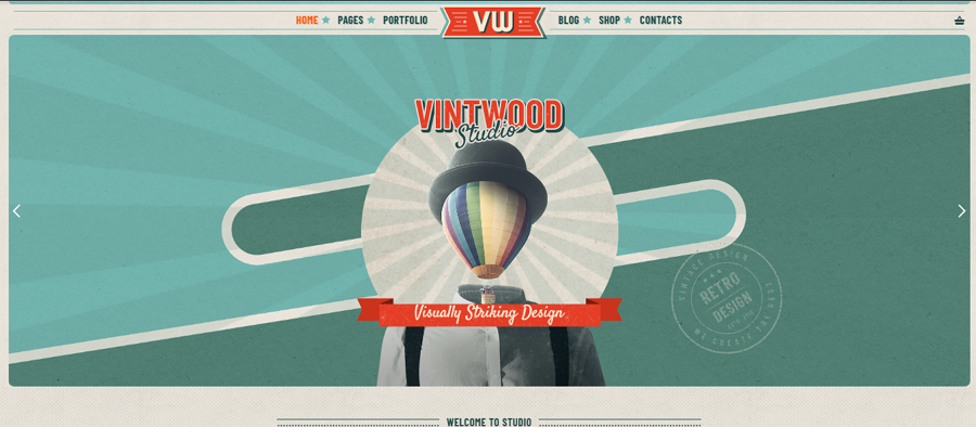 VintWood Vintage Web Template