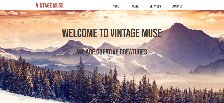 Vintage Muse Web Template
