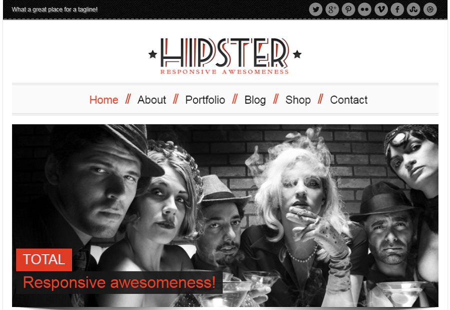 Hipster Retro Responsive Website Template