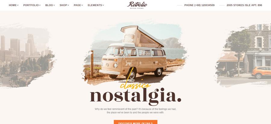 Vintage Retrolie Website Template