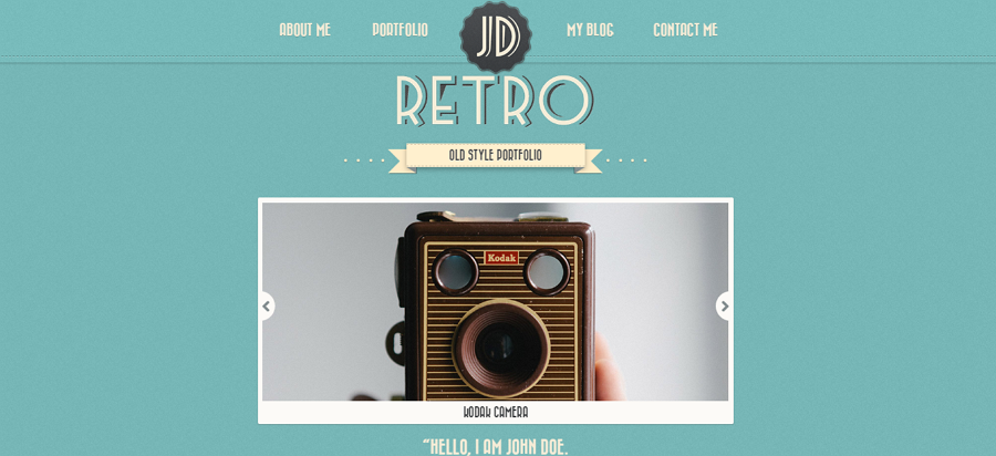 One Page Retro Website Template