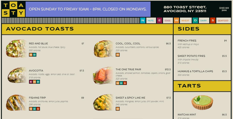 Restaurant Website CSS Grid