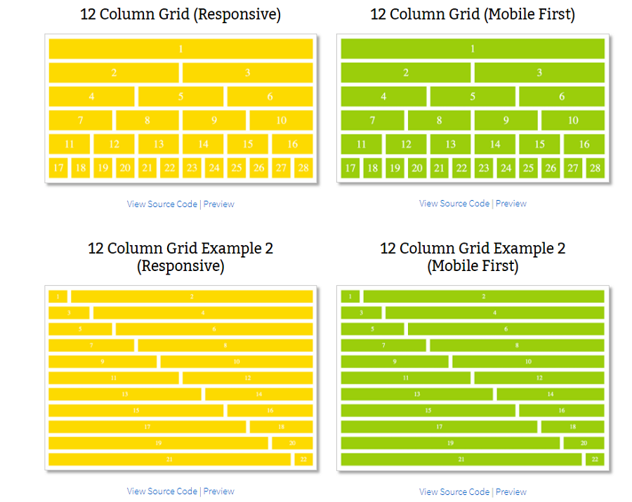 Grid layout template series