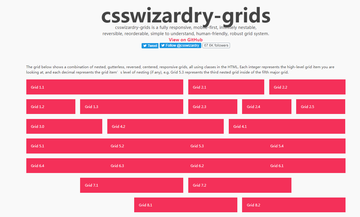 CSS Wizardry Grid System