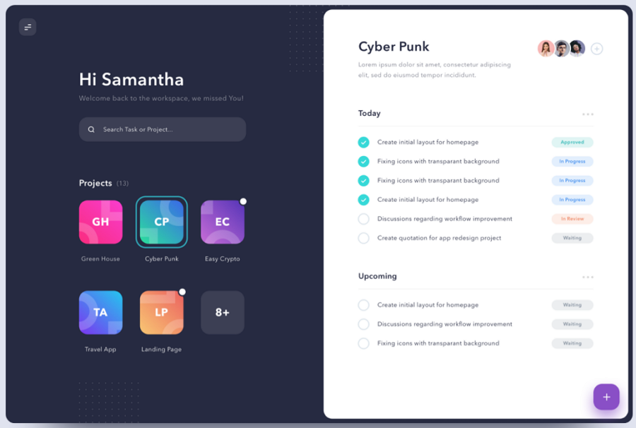 Dashboard for Task Management