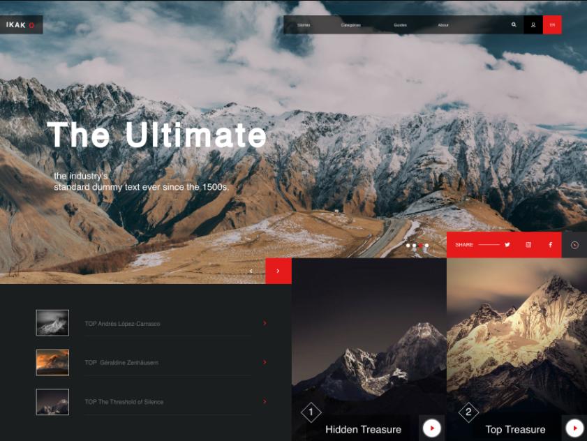 Mountains UI List