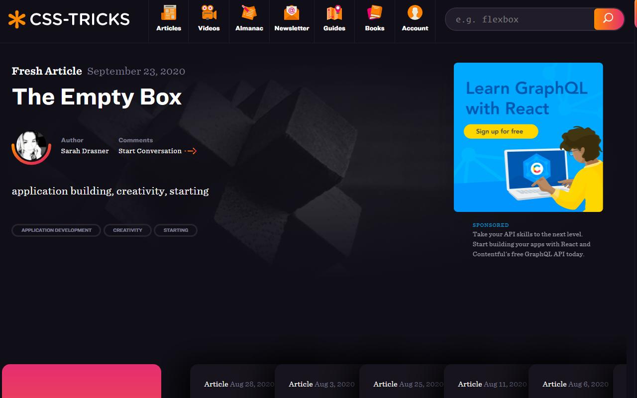 CSS-Tricks homepage