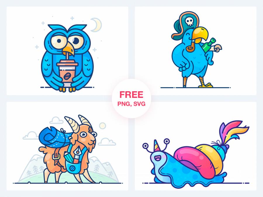 Free Vector Art Stickers