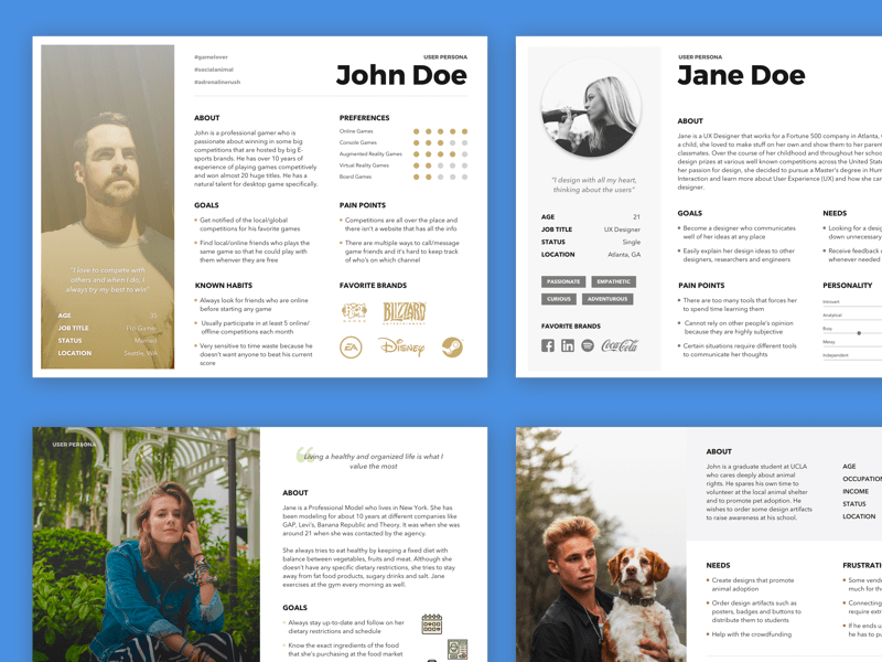 Free User Persona Template Sketch Resource
