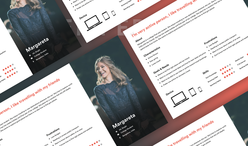 UX Persona Template for Travel App