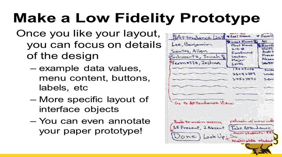 Why to Choose A Low Fidelity Prototype