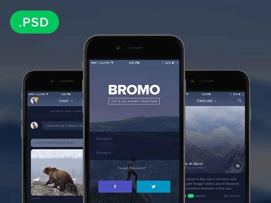 Social Mobile App Template