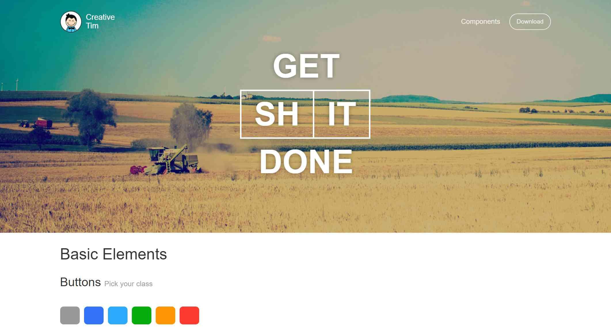 Bootstrap UI kit- Get Shit Done Kit