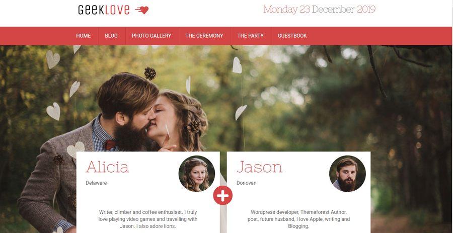 Responsive WordPress Wedding Website Template