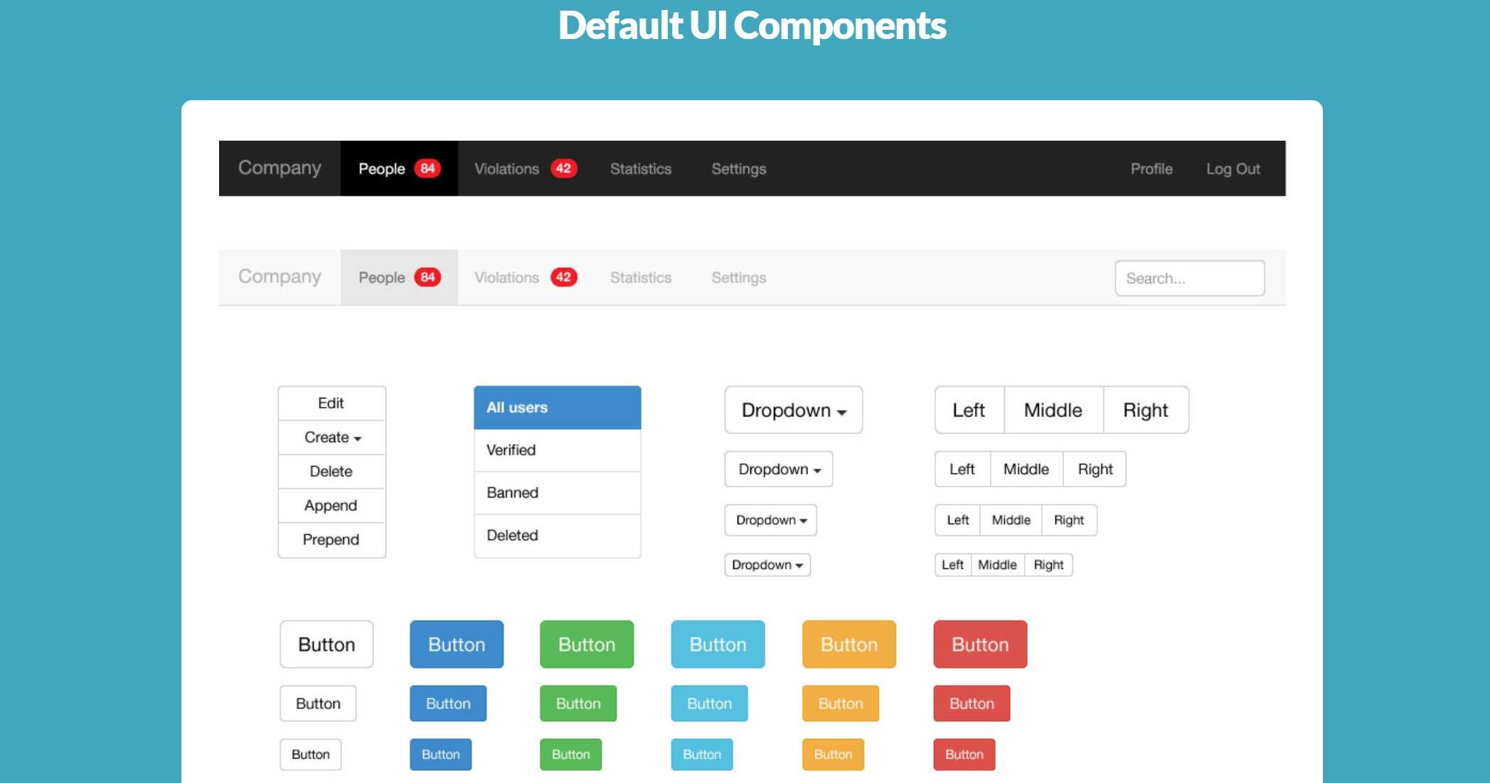 Bootstrap3 Vector UI Kit