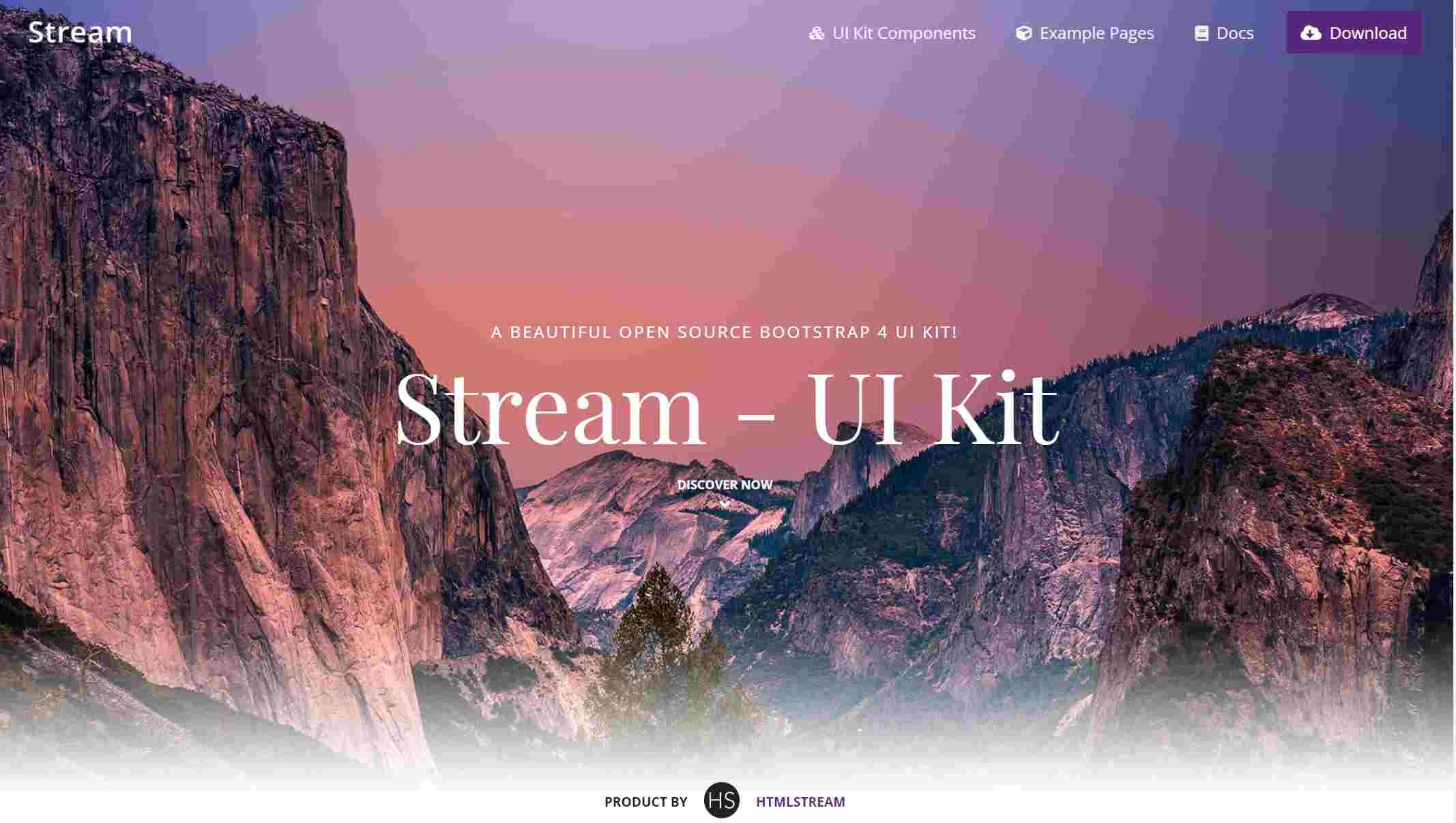 Bootstrap UI kit- Stream