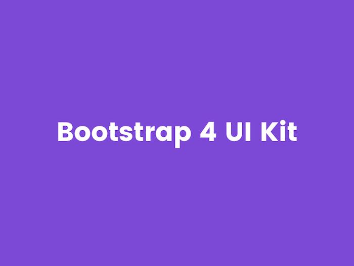 Adobe XD Bootstrap 4 UI Kit