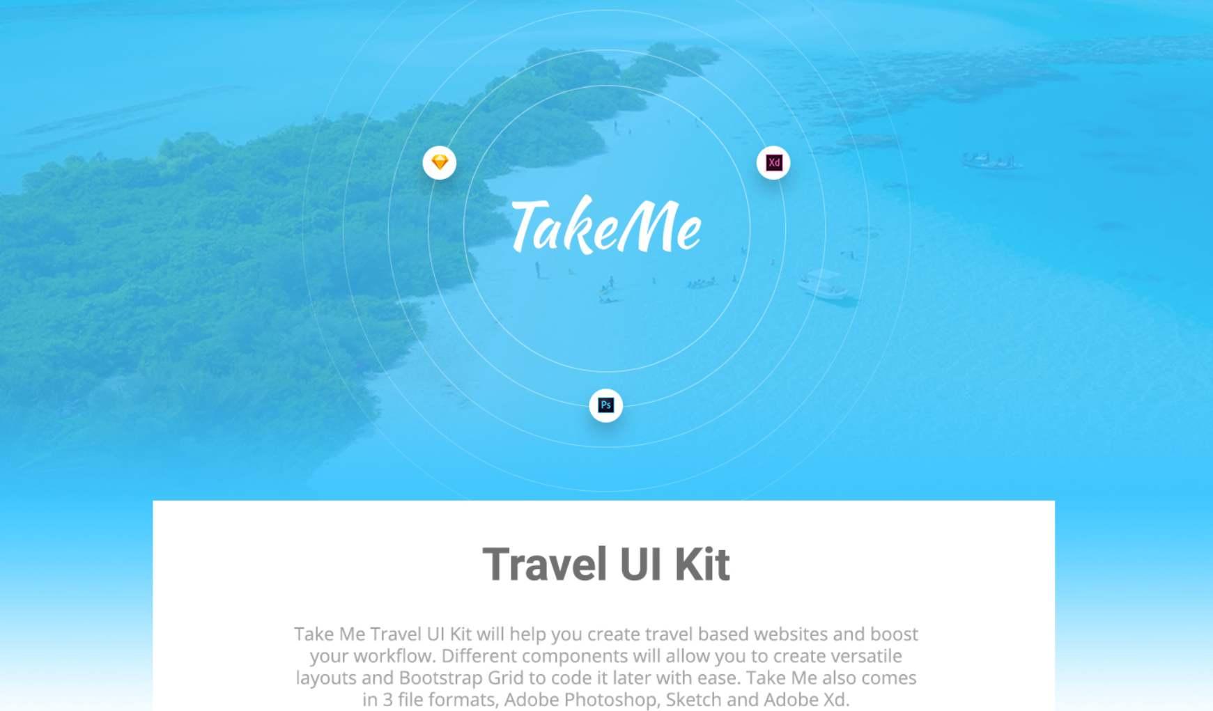 Bootstrap UI kit- Take me