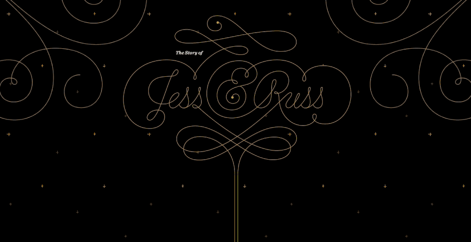 Free Jess & Russ Wedding Website Example