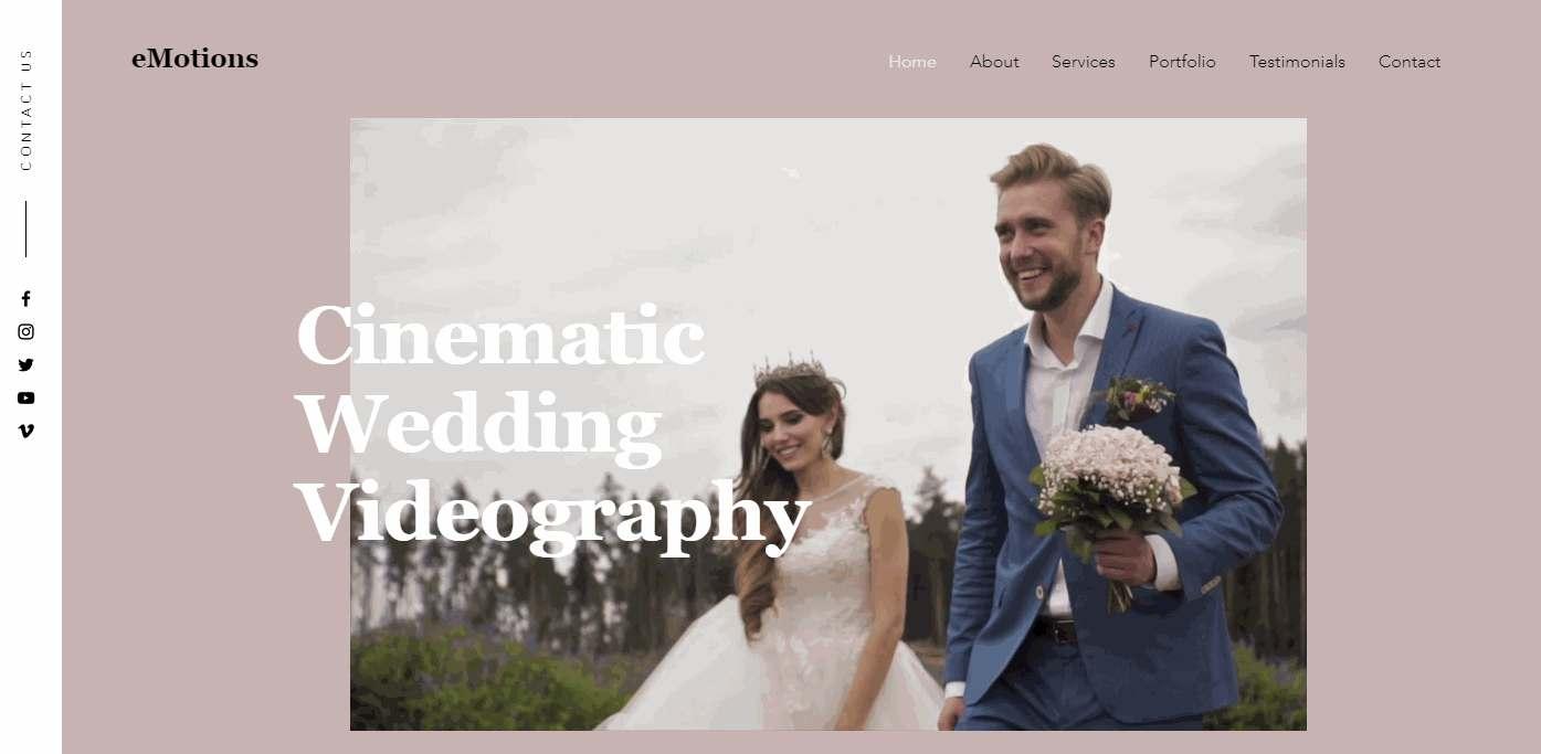 Free Wedding Videographers Company Website Template