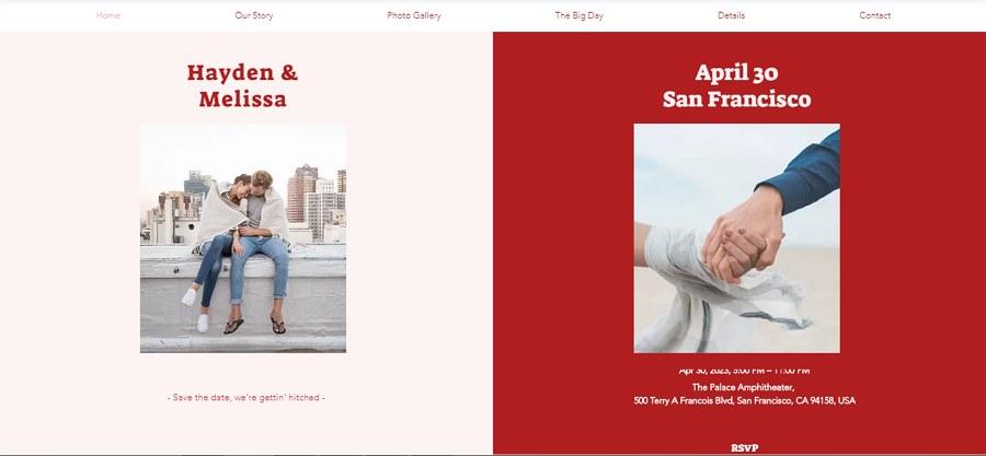 Free Upcoming Wedding Website Template