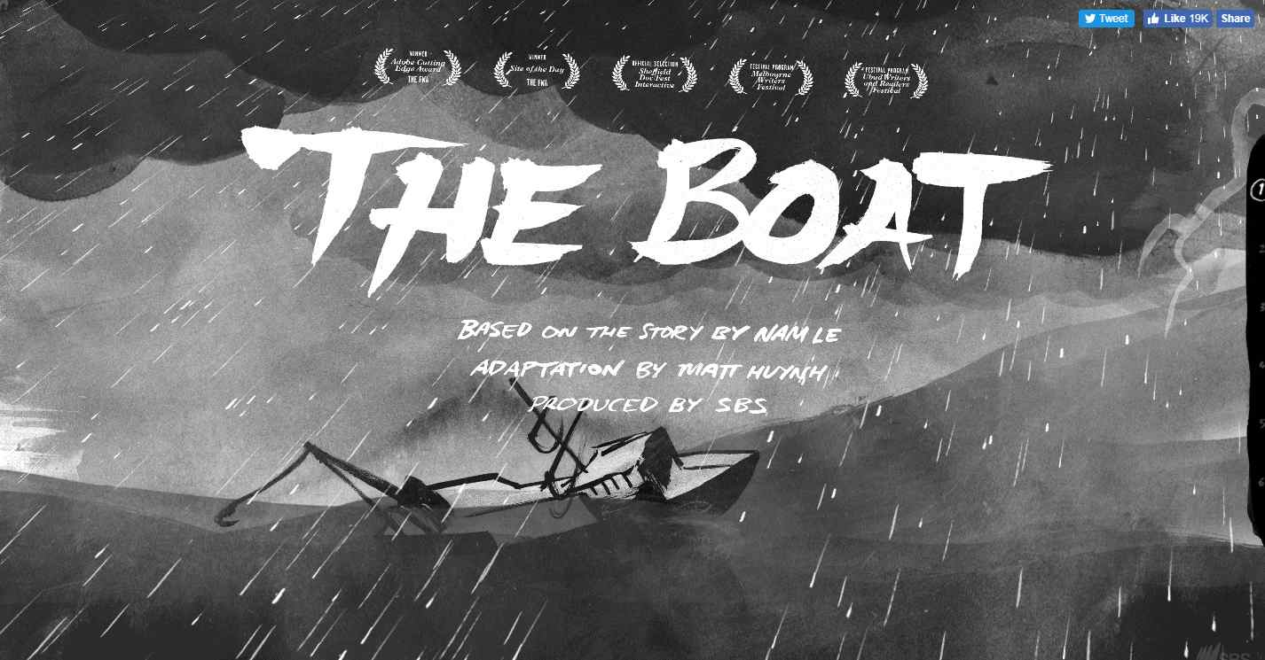 The-boat-interactive-storytelling-website-example-image