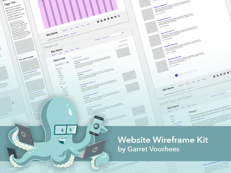 Wireframing Template Sketch Resource