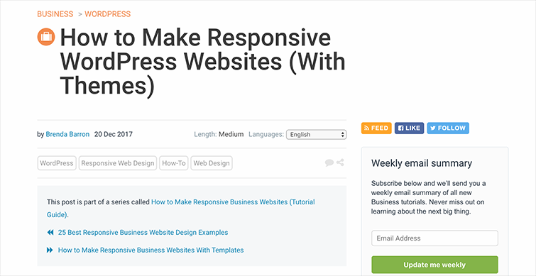 How to Make Responsive WordPress Websites (With Themes)