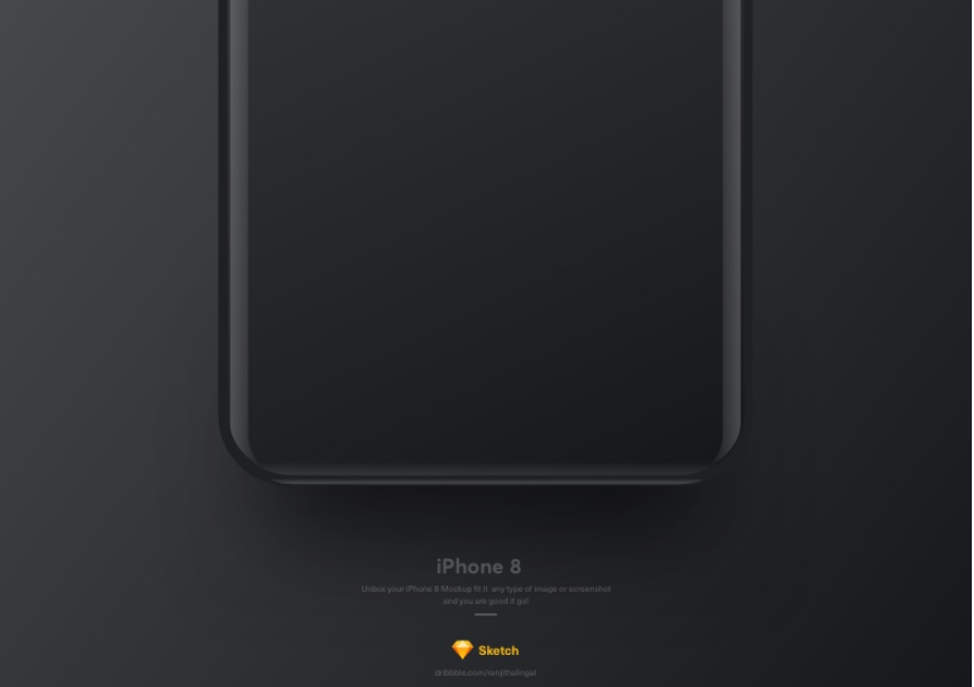 iPhone 8 Sketch Resource