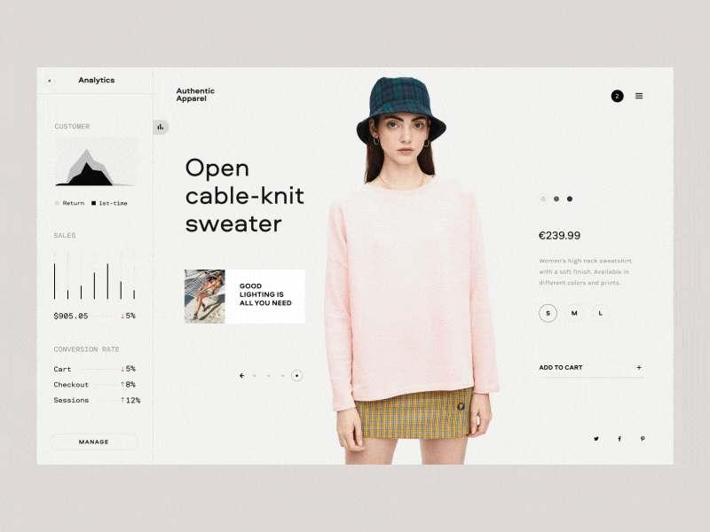 Landing page design example - eCommerce Analytics
