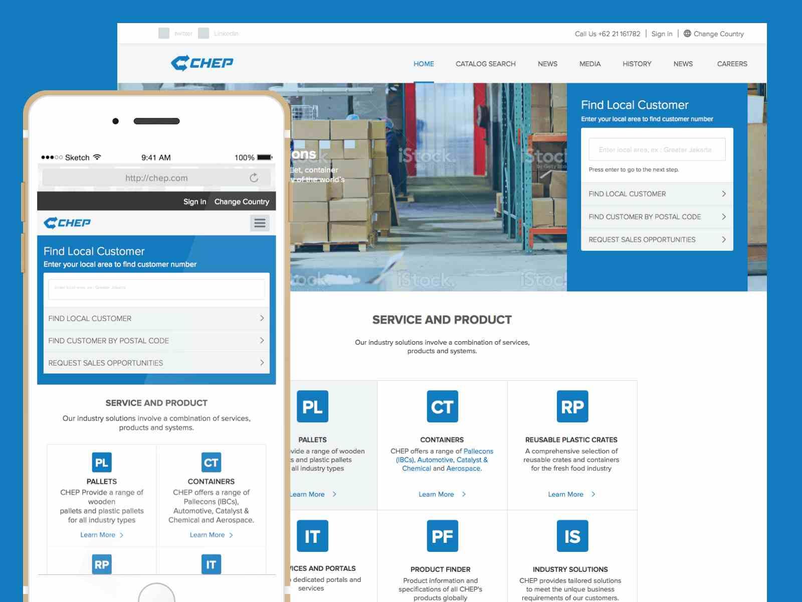 Responsive Company Website Sketch Resource