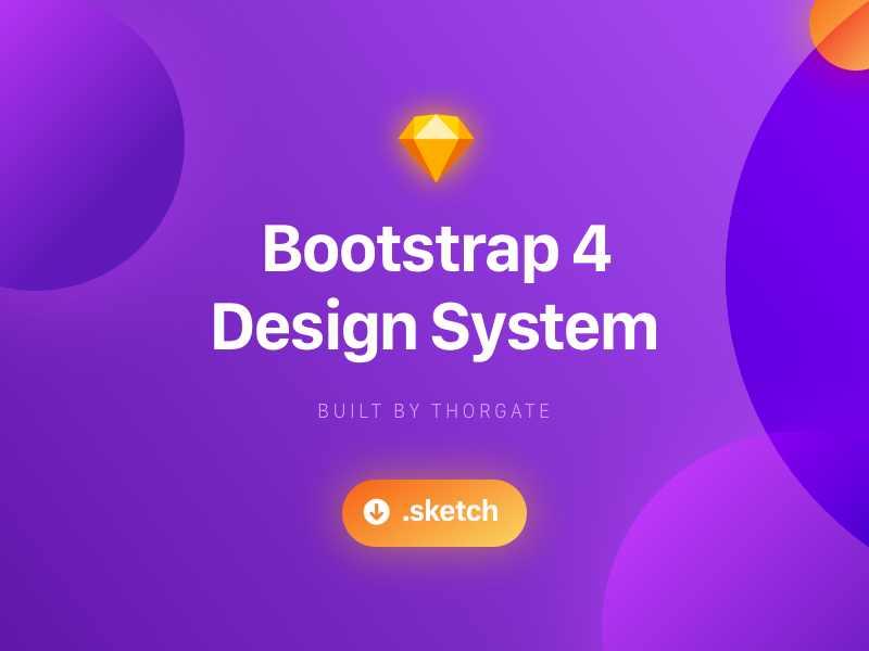Bootstrap Design System - Sketch Freebie