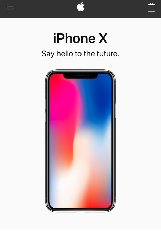 Mobile first design examples-Apple