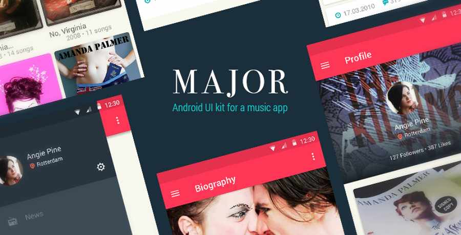 Free Mobile UI Kit for Music Apps