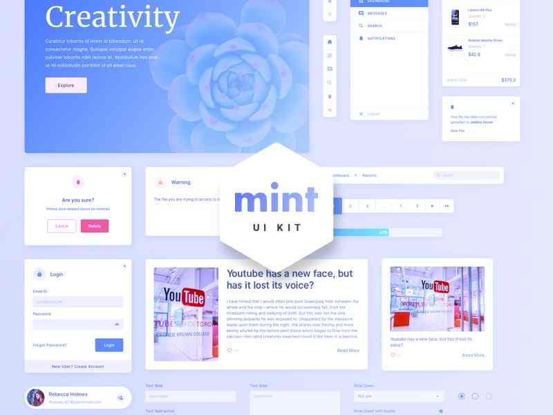 Mint-Free Sketch Web UI Kit