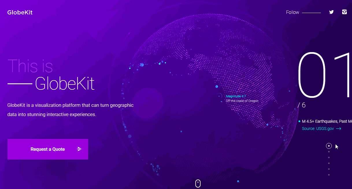 GlobeKit website design