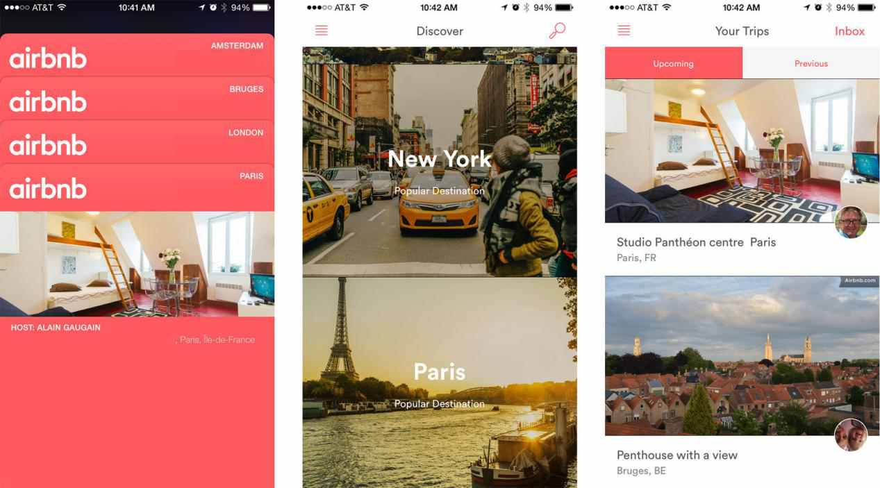 Mobile first design examples-Airbnb