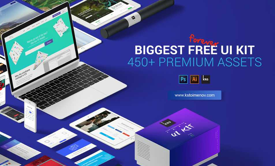 Biggest free UI kit