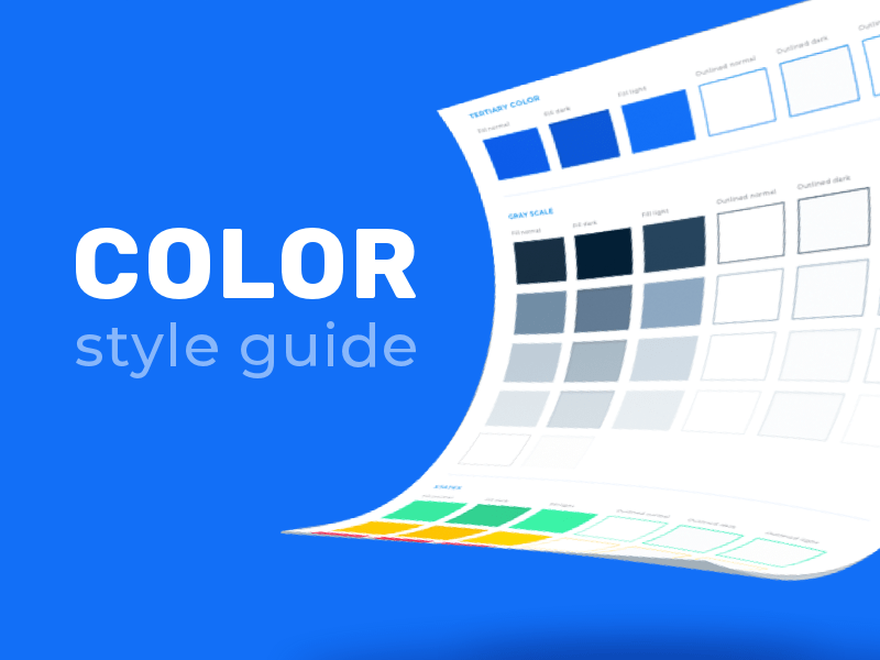 Color style guide template Sketch resource