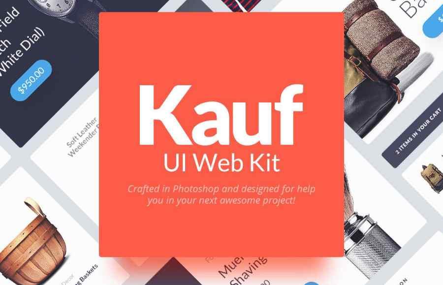 Free web UI kit for Photoshop
