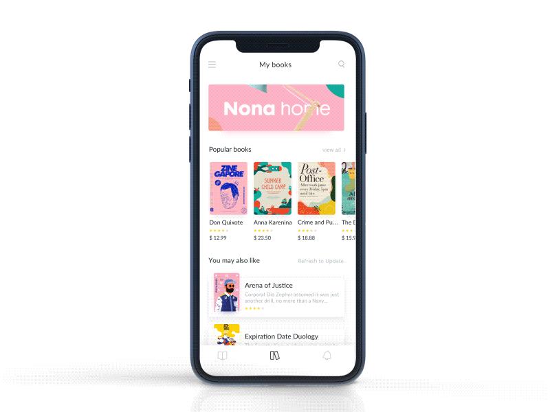 Reading App Design Project