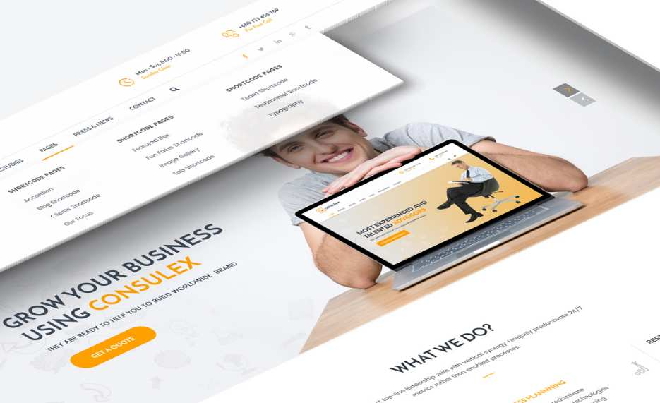 Consulex Free UI Kit & Web Theme