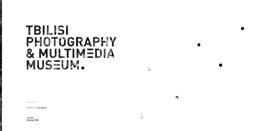 TPMM – HTML5 interactive black and white website example